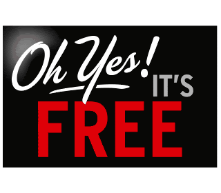 Oh yes, it's free!